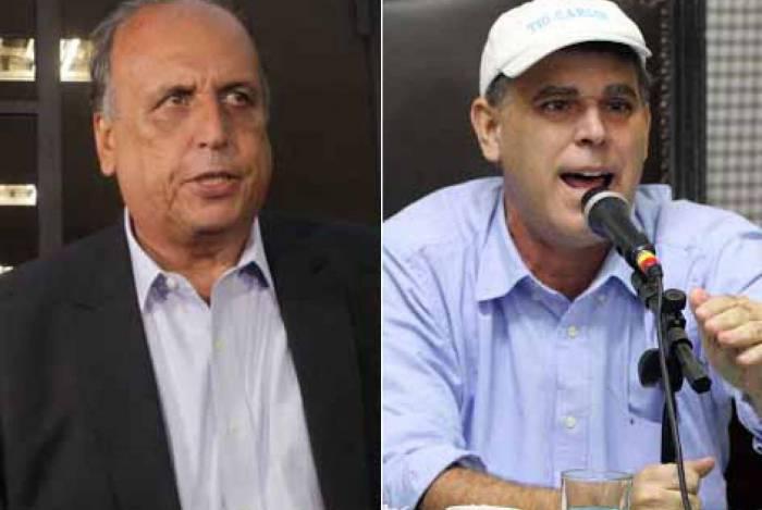 O ex-governador Luiz Fernando Pezão e o ex-deputado estadual Tio Carlos