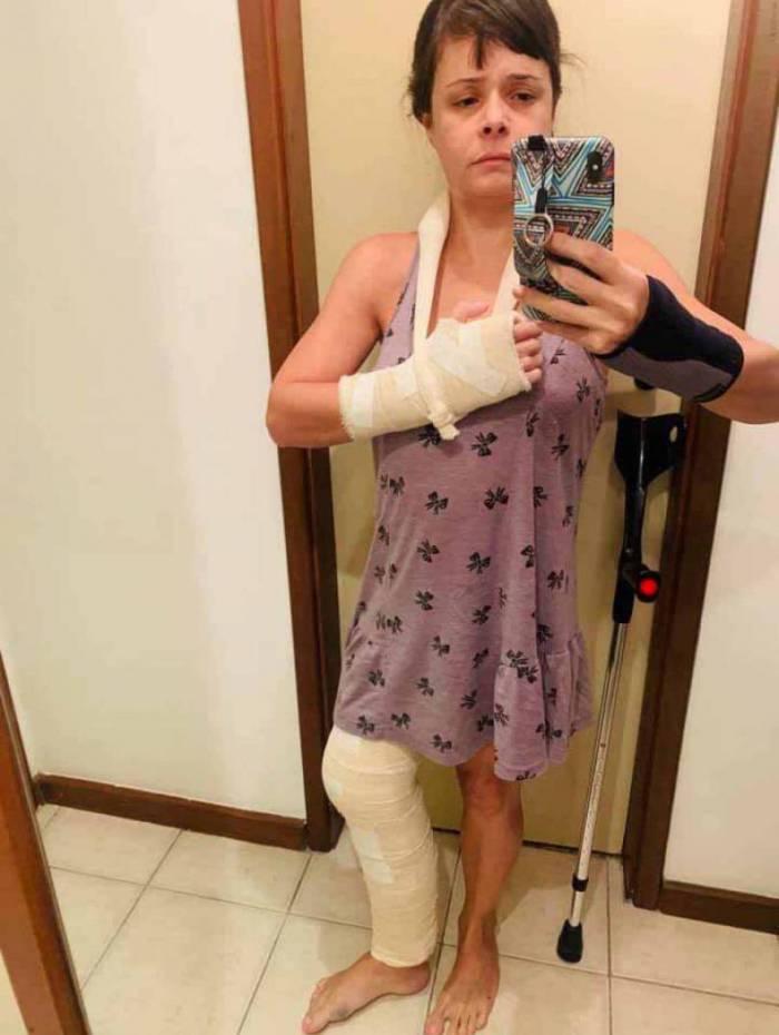 Médica ficou com marcas das agressões espalhadas pelo corpo