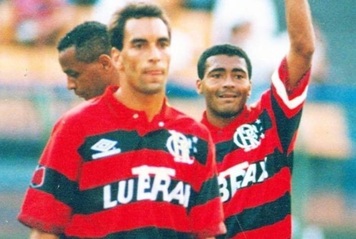 Edmundo e Romário defenderam o Flamengo em 1995