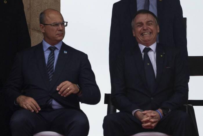 Wilson Witzel e o presidente Jair Bolsonaro: relações rompidas