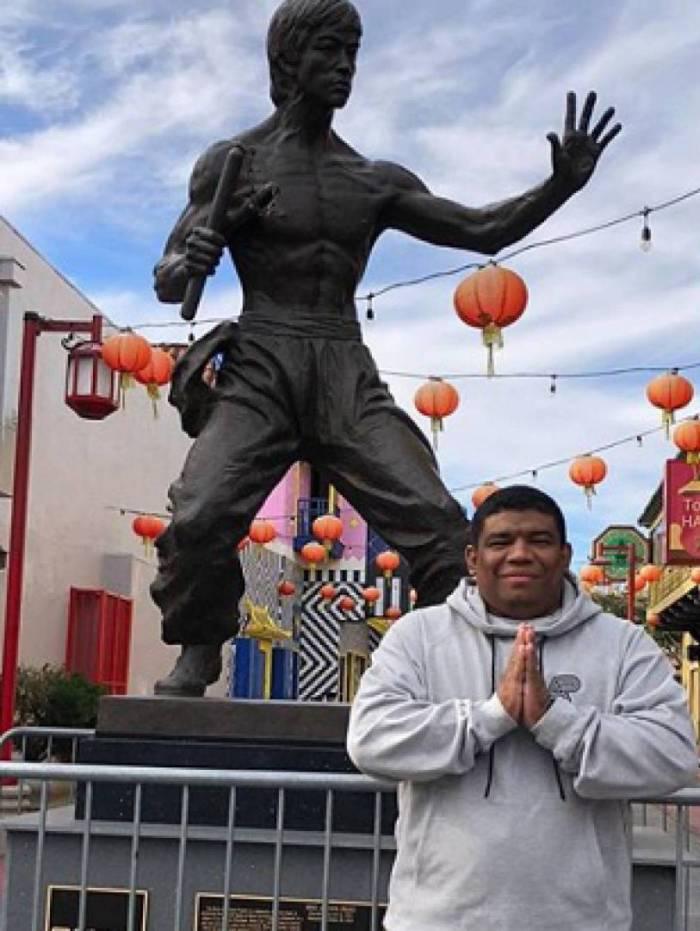 Márcio de Deus, professor de jiu jitsu, realizou um sonho ao conhecer Chinetown, em Los Angeles