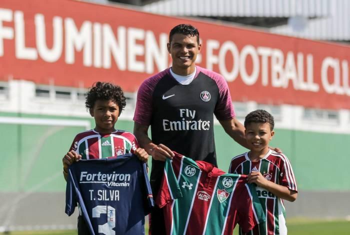 Thiago Silva é ídolo da torcida tricolor