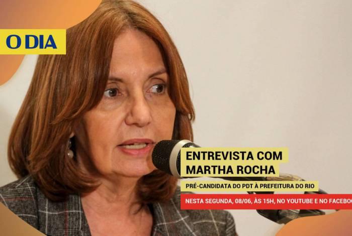 Pré-candidata à Prefeitura do Rio Martha Rocha, do PDT