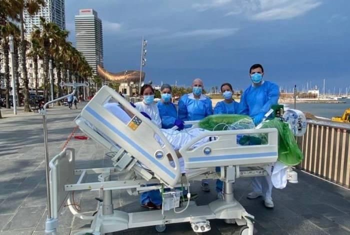 Combate ao Covid-19: Hospital inova e aposta em recuperação na beira da praia