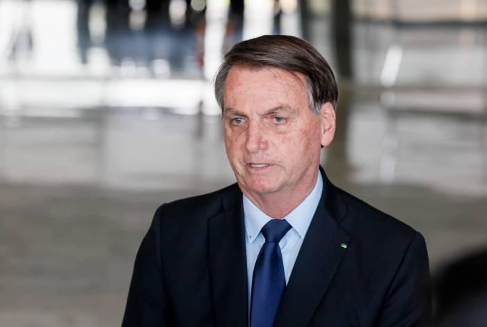Presidente Jair Bolsonaro falou sobre as manifestações do último domingo, em frente ao Palácio do Planalto, em Brasília