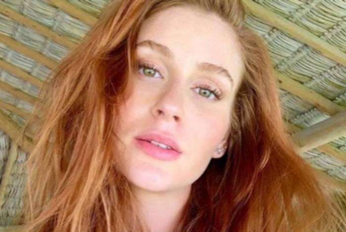 Marina Ruy Barbosa voltou atrás na decisão de raspar seus longos cabelos ruivos
