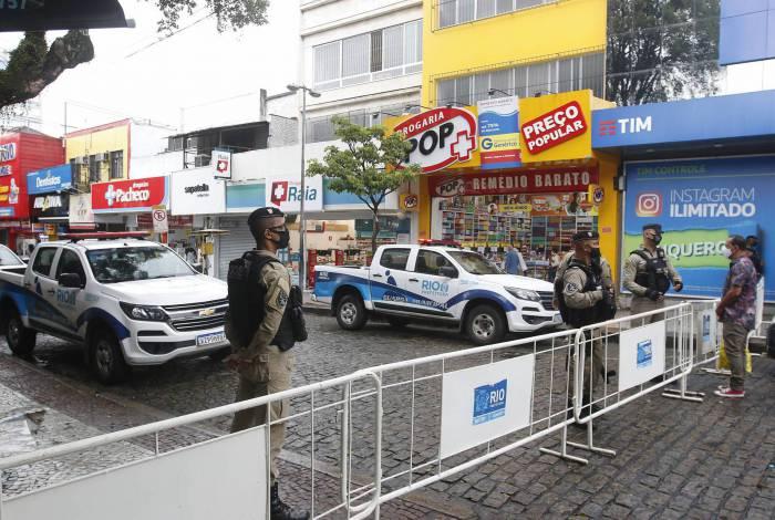 Bloqueio em Campo Grande, Zona Oeste da cidade