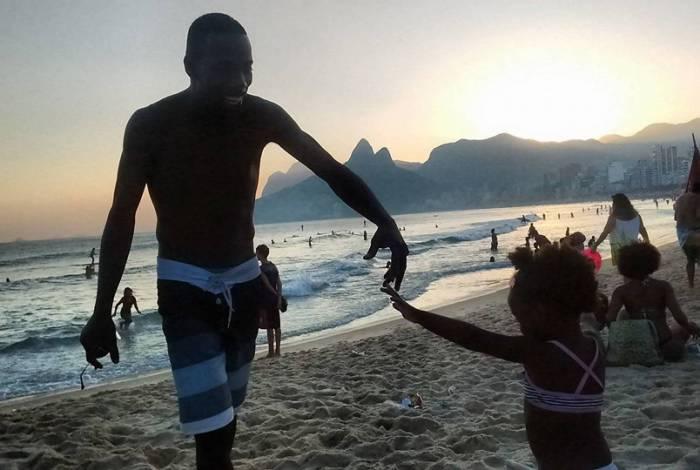 Wilton Oliveira da Costa com a filha Ana Sofia, de 5 anos
