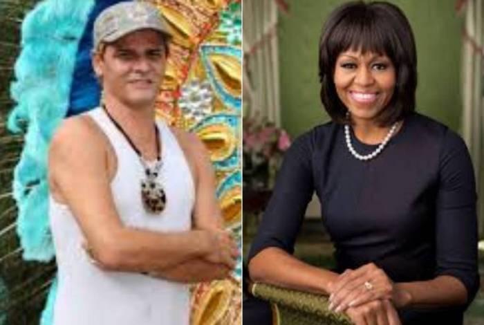 Alexandre Louzada e Michelle Obama