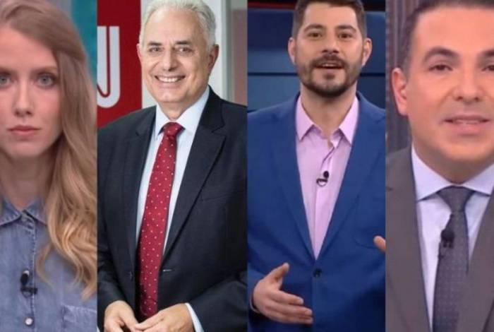 Gabriela Prioli, William Waack, Evaristo Costa e Reinaldo Gottino