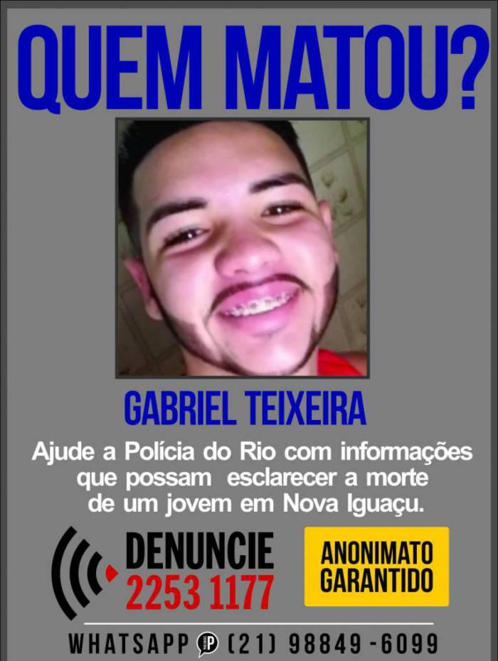 Polícia pede informações que ajudem a prender quem matou Gabriel