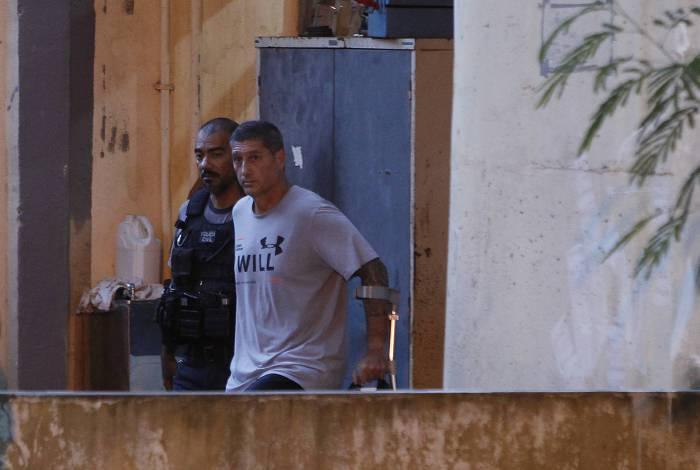 Ronnie Lessa quando foi preso, no dia 12 março de 2019