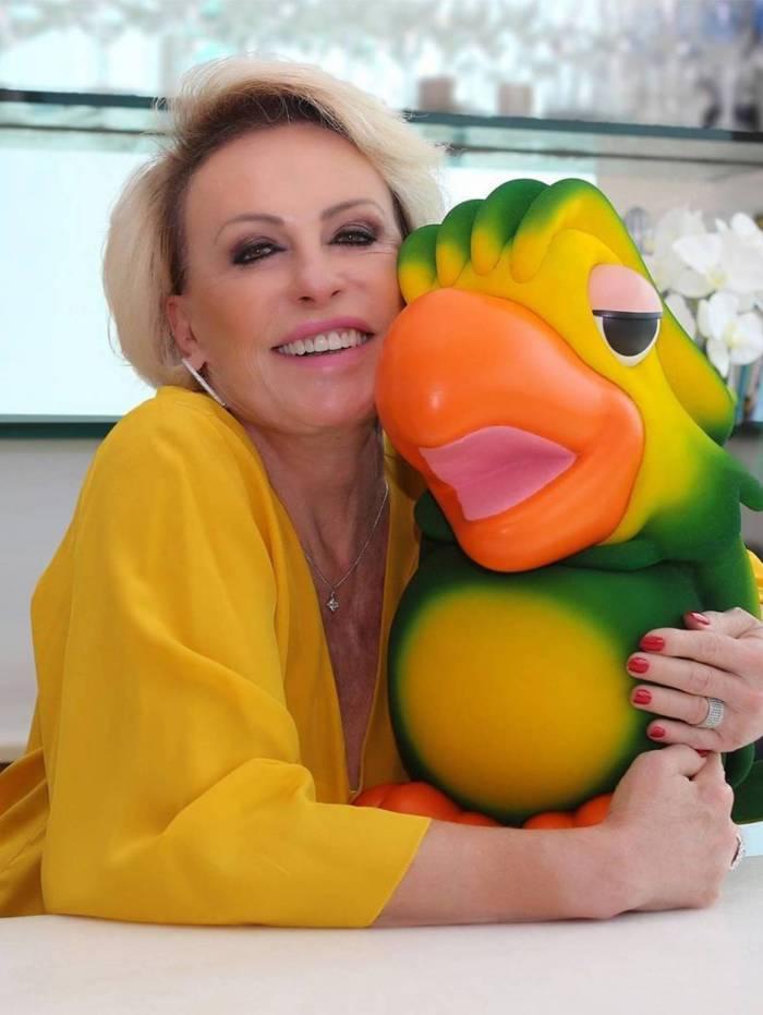 Ana Maria Braga, apresentadora do 'Mais Você', com Louro José