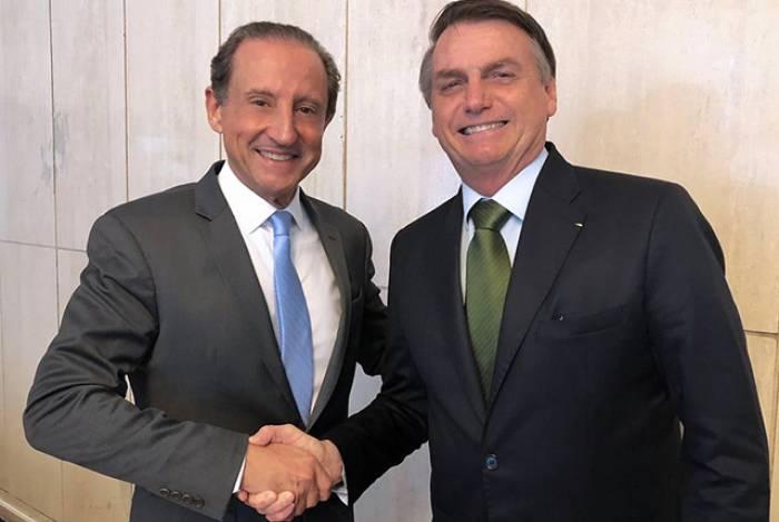 Paulo Skaf e Jair Bolsonaro
