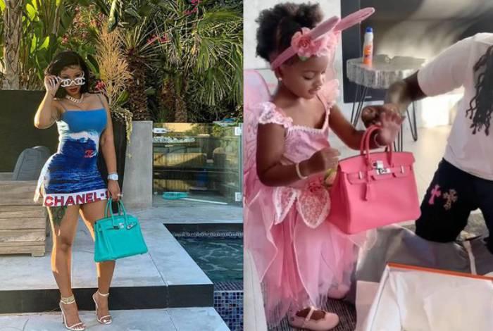 Cardi B dá bolsa de R$ 43 mil para a filha de 2 anos e rebate críticas