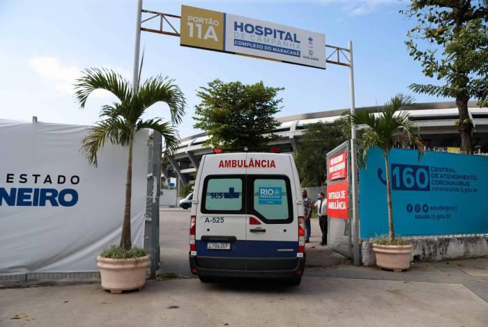 Rio de Janeiro - RJ - 17/07/2020 - COVID 19 - Coronavirus no Rio - Manifestacao dos profissionais de saude do hospital de campanha do Maracanã - Foto Gilvan de Souza / Agencia O Dia