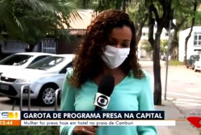 Repórter cai na risada ao noticiar que mulher foi presa nua