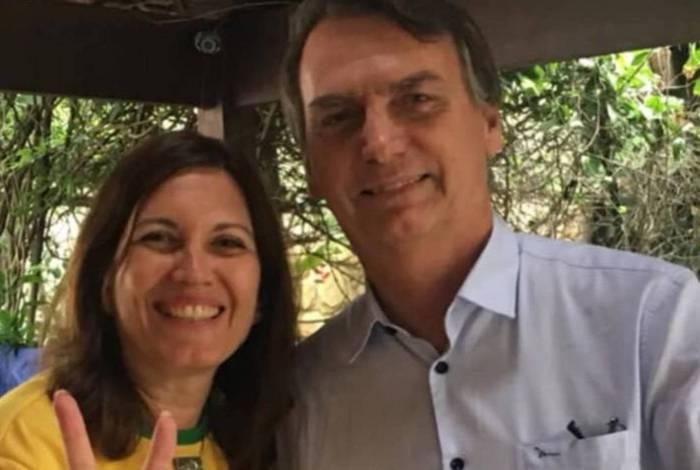Bia Kicis visitou o presidente Bolsonaro