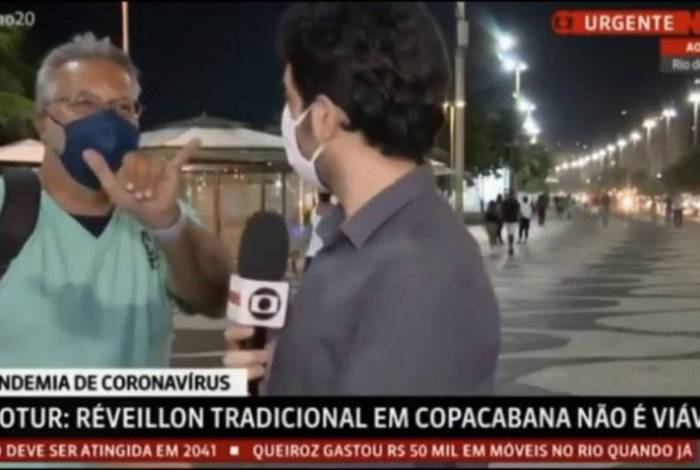 Homem surge ao vivo na GloboNews para xingar emissora