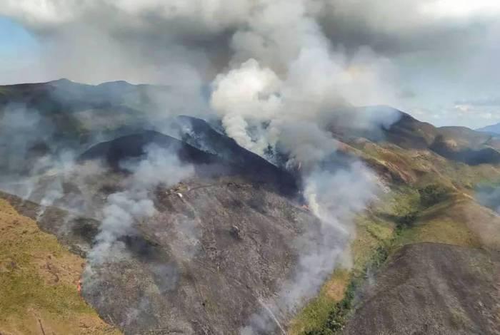 Incêndio na Região Serrana