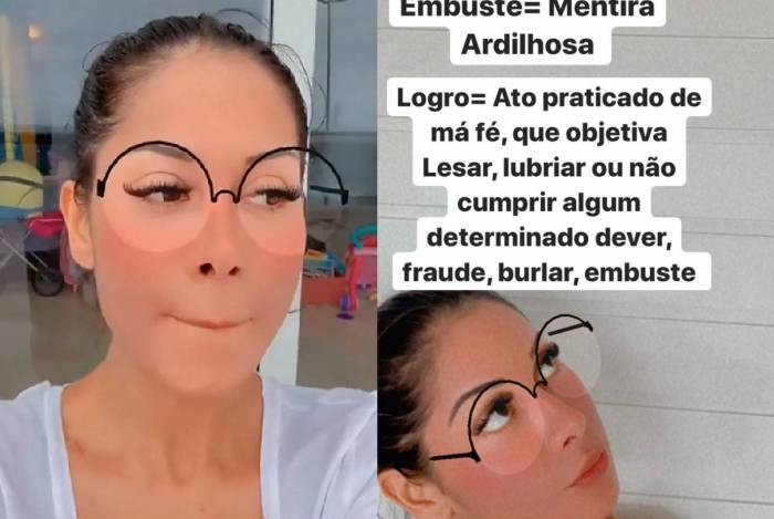 Mayra Cardi nega que esteja proibida de citar nome de Arthur Aguiar
