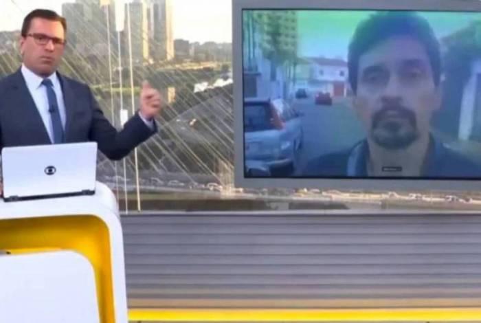 Rodrigo Bocardi levou resposta do presidente do Sindicato dos Metroviários de SP, Altino de Melo Prazeres Junior