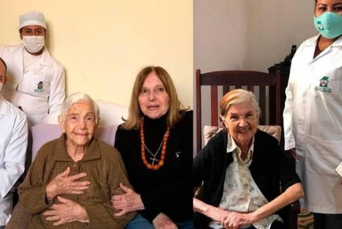 Irmãs de 100 e 96 anos vencem Covid-19