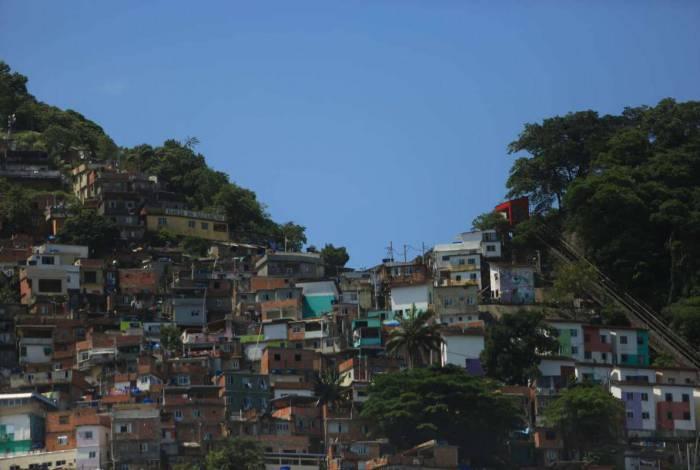Comunidade do Santa Marta em Botafogo, Zona Sul, Rio de Janeiro
