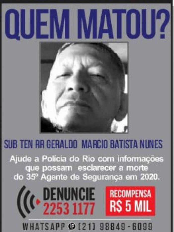 Disque Denúncia pede informações sobre envolvidos na morte de PM reformado morto em Itaguaí