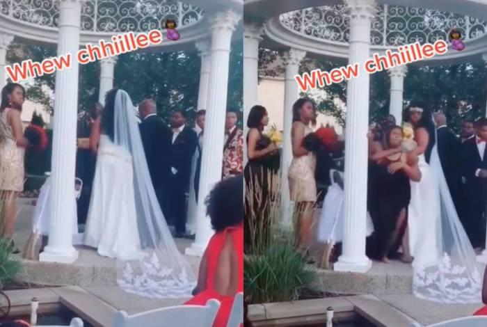 Mulher invade casamento e rola barraco
