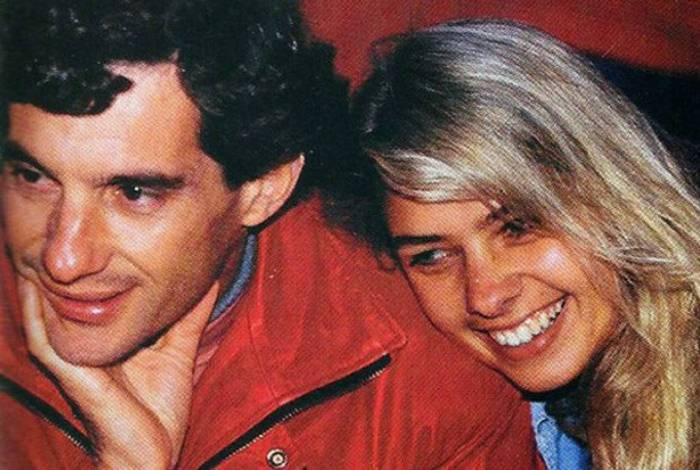 Adriane Galisteu  faz homenagem para Ayrton Senna