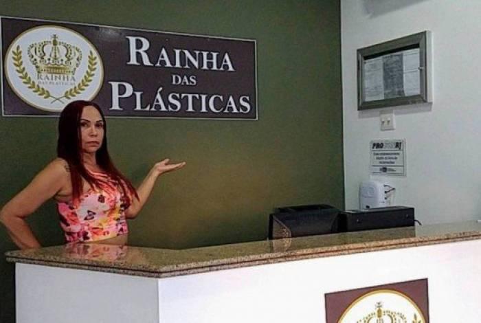 Wania Tavares é dona da clínica 'Rainha das Plásticas', em Vila Isabel, Zona Norte do Rio