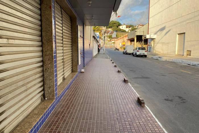 Lojas fechadas devido à pandemia do novo coronavírus