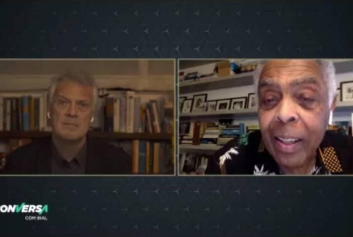 Pedro Bial e Gilberto Gil no 'Conversa com Bial'