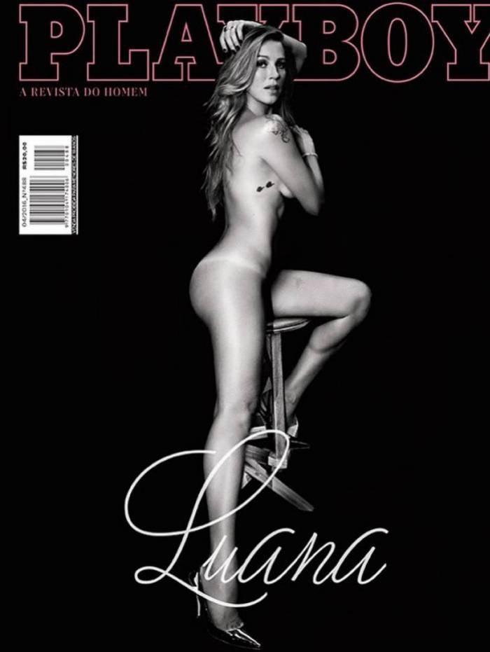 Luana Piovani relembra foto para a 'Playboy' e rebate críticas: 'engulam minha bunda e pronto'
