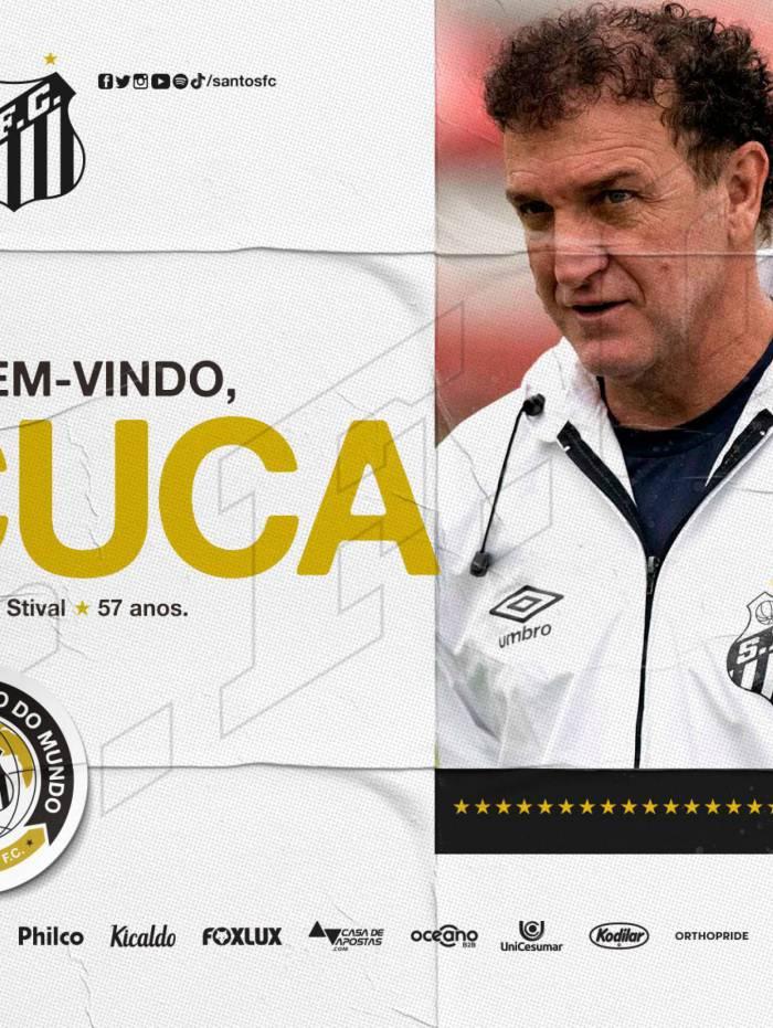 Santos anunciou Cuca como novo técnico