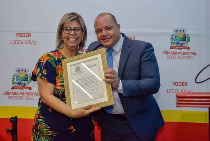 Vereador Cristiano Santos e Pra. Sheila Boechat