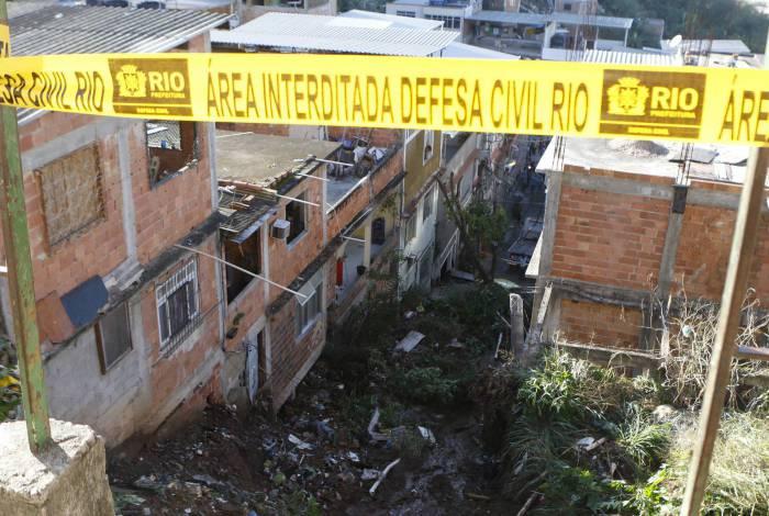 Deslizamento de terra no Morro da Mangueira, Zona Norte do Rio