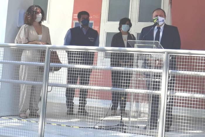 Ministro interino da Saúde, general Eduardo Pazuello, comparece à inauguração da Unidade de Apoio Diagnóstico da Covid-19, em Manguinhos, Zona Norte do Rio