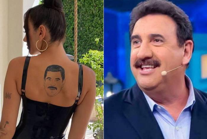 Para brasileiros, Dua Lipa 'faz tatuagem' com o rosto do apresentador Ratinho
