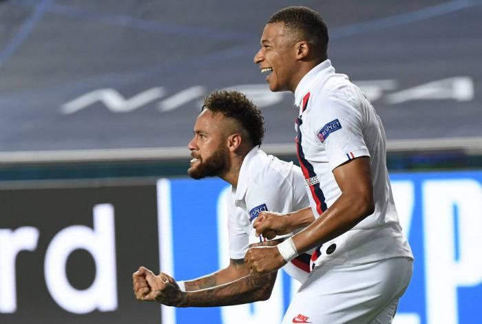 Neymar e Mbappé estão na seleção da Liga dos Campeões