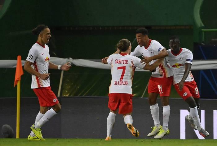 RB Leipzig derrotou o Atlético de Madrid