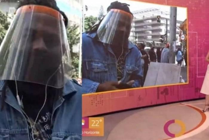Fátima Bernardes pede que repórter use corretamente a máscara