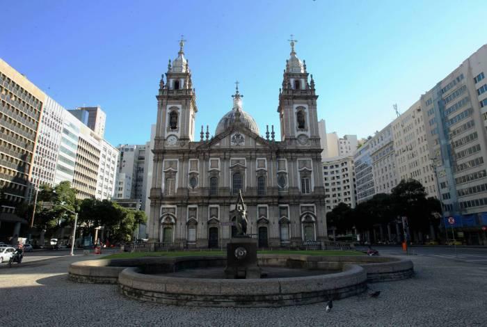 Igreja da Candelária, no Centro do Rio. Foto de arquivo