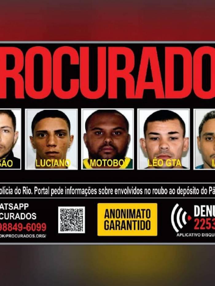 Portal dos Procurados pede informações sobre envolvidos em em roubo a depósito em Caxias