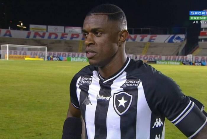 O zagueiro Marcelo Benevenuto foi o destaque do time do Botafogo