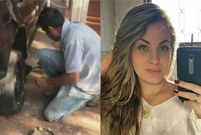 Rodrigo Pereira Alves, de 37 anos, insistiu para trocar pneu de Mariana Bazza