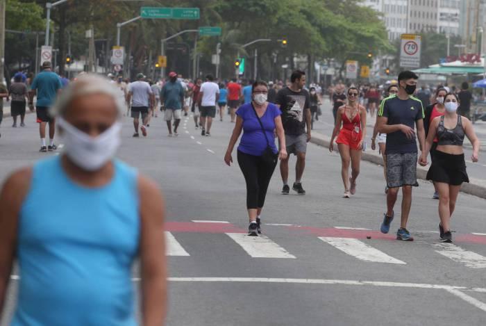 Rio,16/08/2020 Movimentação na Praia de Copacabana