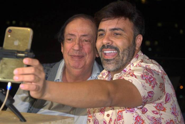 Uma das lives de grande sucesso de Rodrigo Oliver foi com Marcos Oliveira, o eterno Beiçola da 'Grande Família'