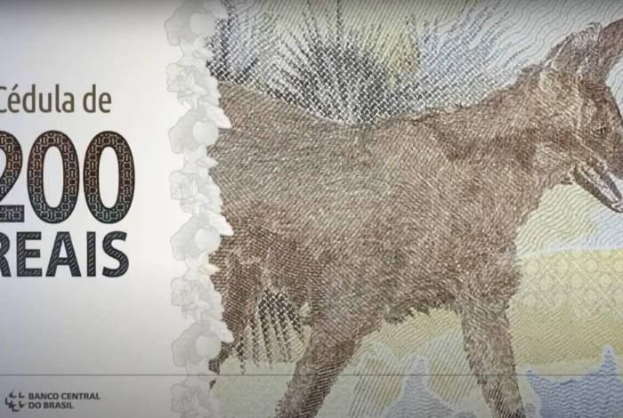 Nova nota de R$ 200, apresentada pelo BC nesta quarta
